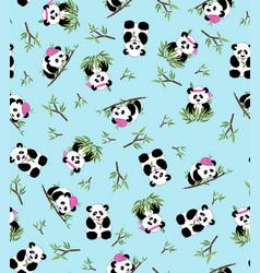 panda bamboo vector image