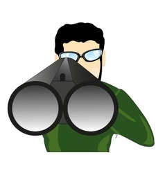 Persons with weapon vector image