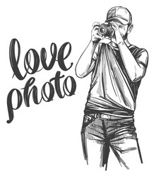 Photographer - hand drawn vector