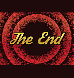red end screensaver in retro stypple style vector image