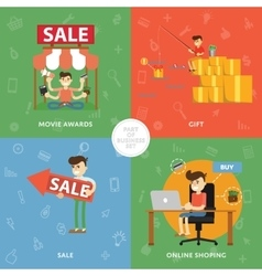 Sales purchases discounts ideas and analysis vector image