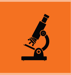school microscope icon vector image
