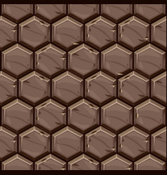 Seamless pattern texture hexagonal stone tiles vector