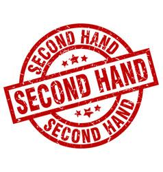 Second hand round red grunge stamp vector
