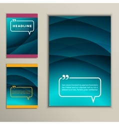 Set beautiful abstraction blue with dark stripes vector image vector image