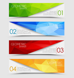 Set of geometric polygonal banners vector image