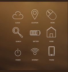 set of stoke web icons vector image