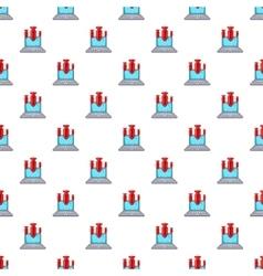 Spam on laptop pattern cartoon style vector