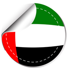 sticker design for flag of arab emirates vector image