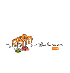 sushi roll banner background one vector image