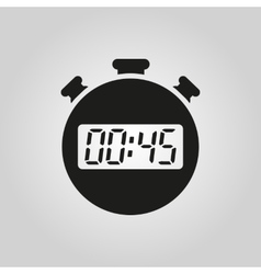 The 45 seconds minutes stopwatch icon Clock and vector image