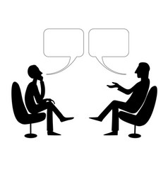 two men are talking with bubble drawing vector image