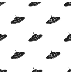 UFO icon in black style isolated on white vector
