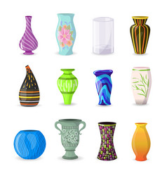 Vase decorative ceramic pot and decor vector