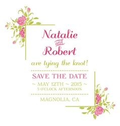 Wedding Invitation Card - Flower Theme vector image vector image