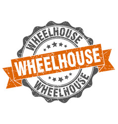 Wheelhouse stamp sign seal vector