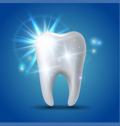 White shining tooth concept whitening human vector