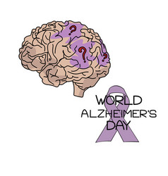 World alzheimers day themed depicting human vector