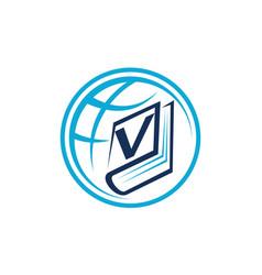 World education letter v vector