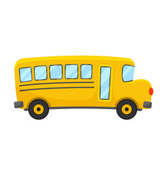 Yellow school bus right side projection vector