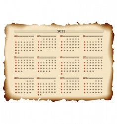2011 calendar template vector image vector image