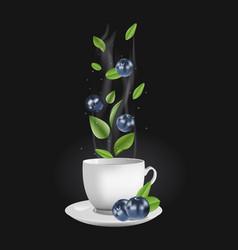 blueberry tea vector image