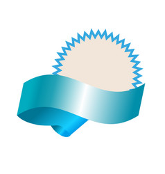 empty template with blue realistic banner vector image vector image