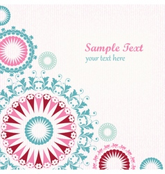 Floral decorative graphic background vector image vector image