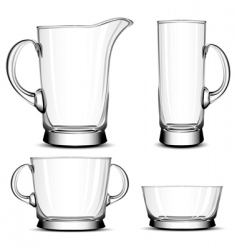 glass tableware vector image vector image