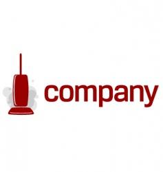 vacuum cleaner logo vector image vector image