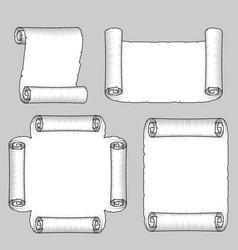 vintage paper scrolls vector image