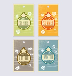 4 season labels vector image vector image