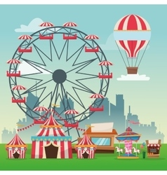 Activities of carnival and festival design vector image