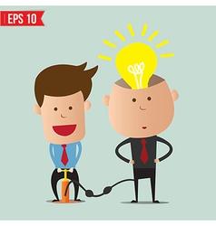 Cartoon Business man pump idea - - EPS10 vector image