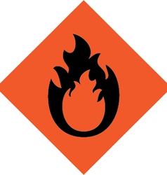 fire warning sign vector image vector image