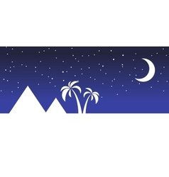 landscape egypt night vector image