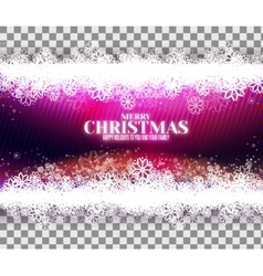Magic purple background with snowflakes vector image vector image