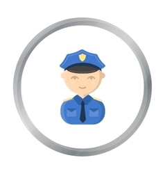 Policeman cartoon icon for web and vector image vector image