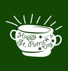 saint patrick day symbol of leprechaun treasure vector image