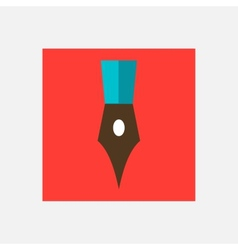 writing pen icon vector image vector image