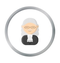 Judge cartoon icon for web and vector image