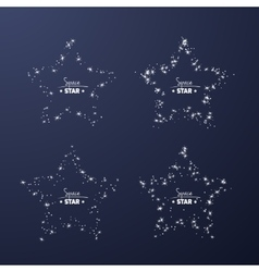 Set of star frames for your text from shiny stars vector image vector image