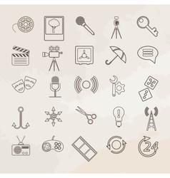 Universal icon set vector image vector image