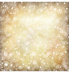 vintage xmas golden stars vector image