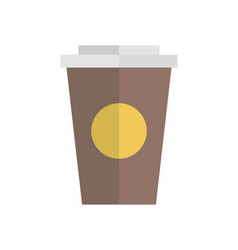 cup container flat design vector image vector image