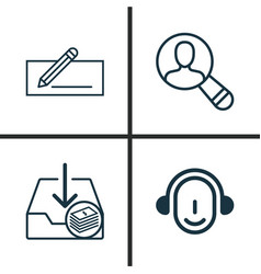 Ecommerce icons set collection of spectator vector