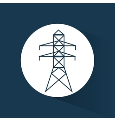 Electrical pylon energy power blue background vector