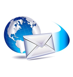 email SMS mailing the world vector image