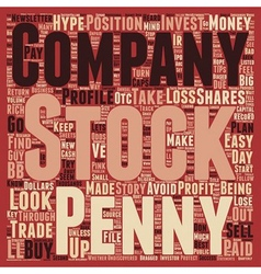 Penny Stocks Turn Your Pennies Into Dollars text vector image vector image