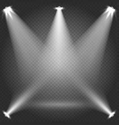 stage illumination with white transparent vector image vector image